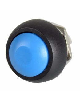 12mm Domed Push Button - Blue
