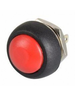 12mm Domed Push Button - Red