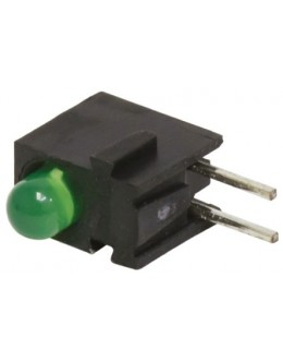 Through-hole LED Green 5mm LOW CURRENT