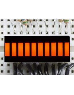 10 Segment Light Bar Graph LED Display - Amber