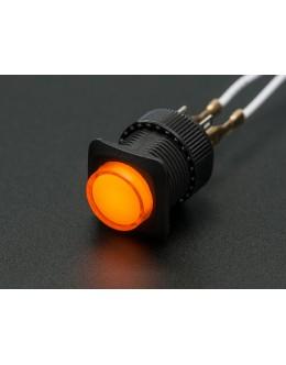 16mm Illuminated Pushbutton - Yellow Latching On/Off Switch