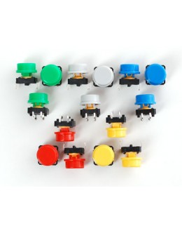 Colorful Round Tactile Button Switch Assortment - 15 pack