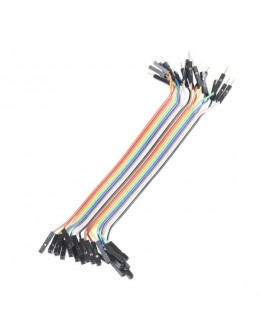 """Jumper Wires - Connected 6"""" (M/F, 20/pack)"""