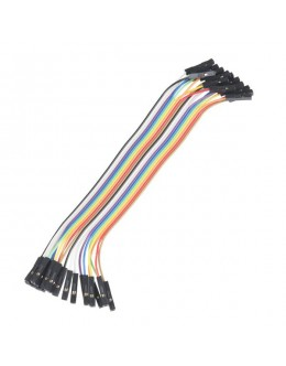 """Jumper Wires - Connected 6"""" (F/F, 20/pack)"""